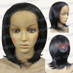 20-034-Heat-Resistant-Lace-Front-Black-Layered-Straight-Flip-Medium-Cosplay-Wigs
