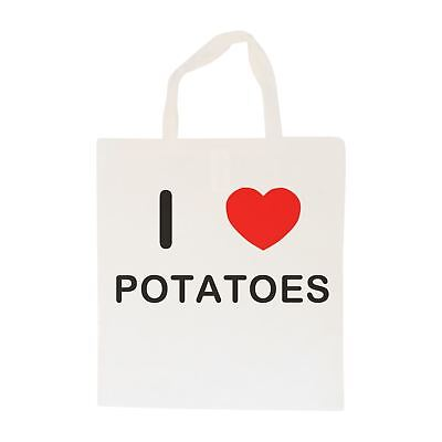 I Love Potatoes - Cotton Bag | Size choice Tote, Shopper or Sling