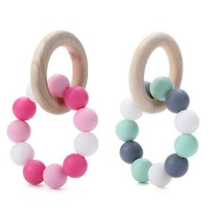 Baby-Nursing-Bracelets-Wooden-Ring-Baby-Teether-Silicone-Chew-Beads-Toys-R1BO