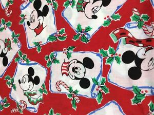 image is loading vintage disney mickey mouse christmas fabric 49 x - Disney Christmas Fabric