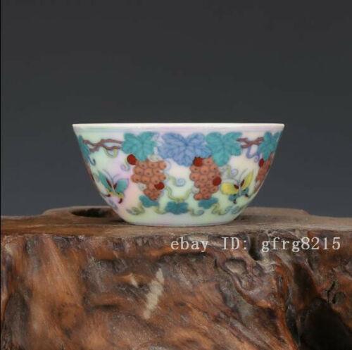 "3.9/"" Chinese Porcelain Painting Blue White Prajna Paramita Incense Burner Censer"