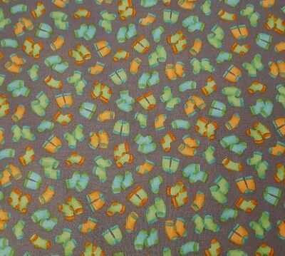 Monkey Business Bethany Shackleford Quilting Treasures BTY Sock Orange Geometric