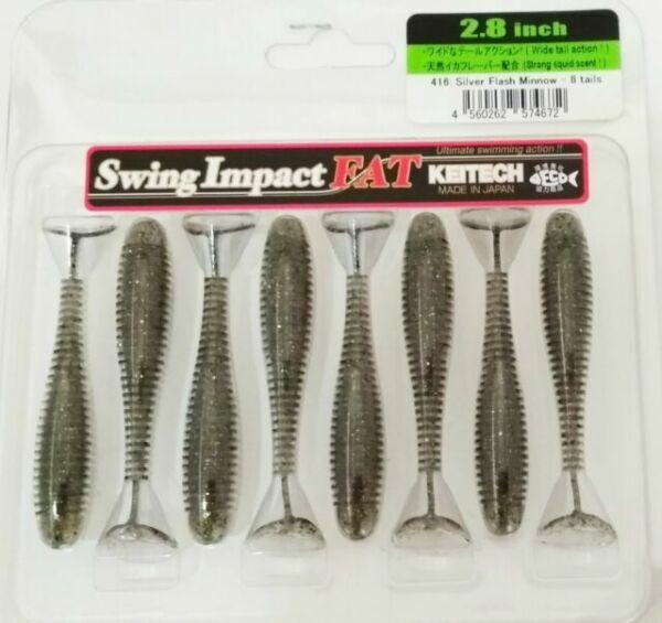 Keitech Swing Impact Fat 71mm 8 piece Rubber Bait Rubber Fish Squid Scent
