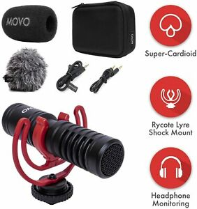 Movo VXR10-PRO Supercardioid Shotgun Microphone for Cameras and Smartphones
