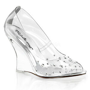 Clear Princess Glass Slippers Heels Cinderella Disney Wedding ...