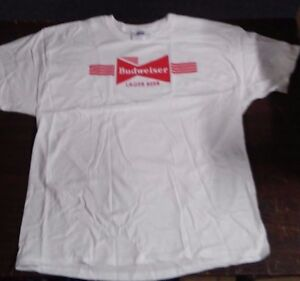 71bbb6c7608d6 Image is loading Budweiser-Lager-Beer-T-Shirt-X-Large-034-
