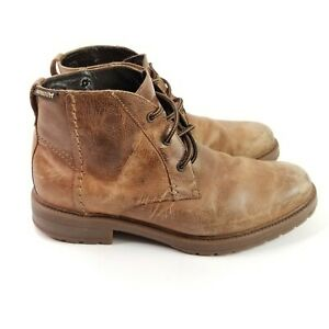 Mephisto-Mens-Brown-Leather-3-Eye-Lace-Up-Chukka-Boots-Size-US-10-Made-Portugal
