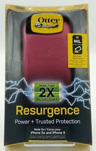 """New Rugged Battery Case by Otterbox Rusurgence for 4.0"""" iPhone SE / 5s / 5 Red"""