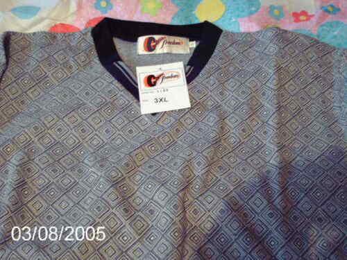 New V marca etichette a Size di con 3xl Large Maglione scollo grigio con q0pOxTf