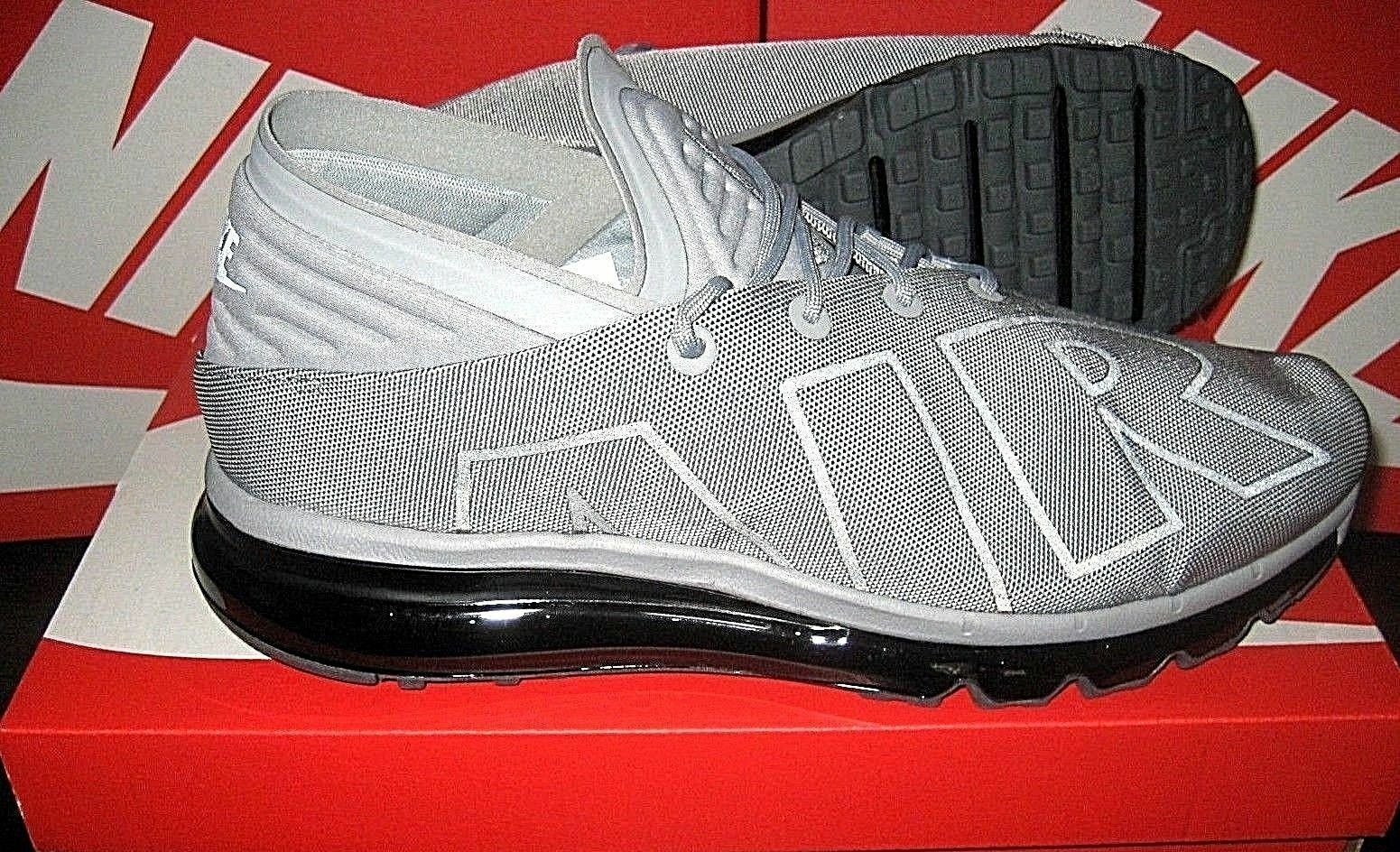 Nike Herren Air Max Flair Se Laufschuhe Wolf Grau Schwarz (AA4084-002) Sz 13