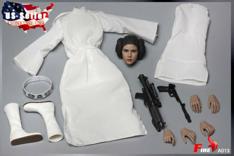 1 6 Princess Leia Head Sculpt Clothing Set Star Wars For 12  HotToys Figure❶USA❶
