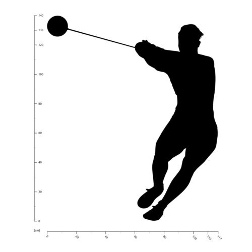 Lancer de marteau Sports dathlétisme Sticker Muraux WS-18661