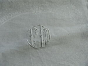 La Fourniture 6 Ancienne Serviettes En Damassé Lin Monogramme Pa à Décor De Rose êTre Nouveau Dans La Conception