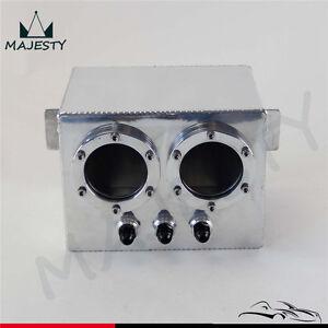 3L High Flow Fuel Swirl Surge Pot Tank 2PCS External 044 Dual Fuel Pump SL