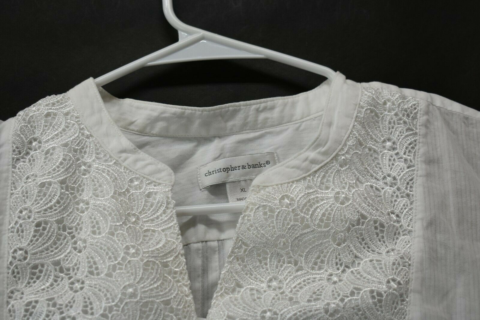 Lot of 3 Women's XL Christopher & Banks White LS … - image 4