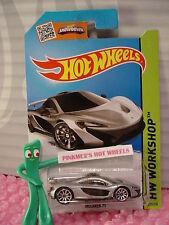 Case H/J 2015 i Hot Wheels McLAREN P1 #223☆Silver; 10sp☆New Casting☆HW Garage