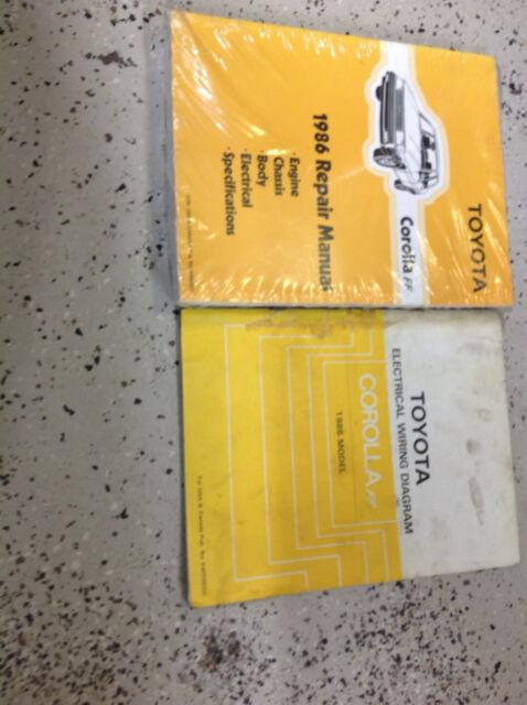1986 Toyota Corolla Ff Service Repair Shop Workshop Manual