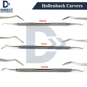 Dental-Hollenback-Carvers-Wax-Carving-Placing-Amalgam-Plugger-Set-1-2-3-3S-CE