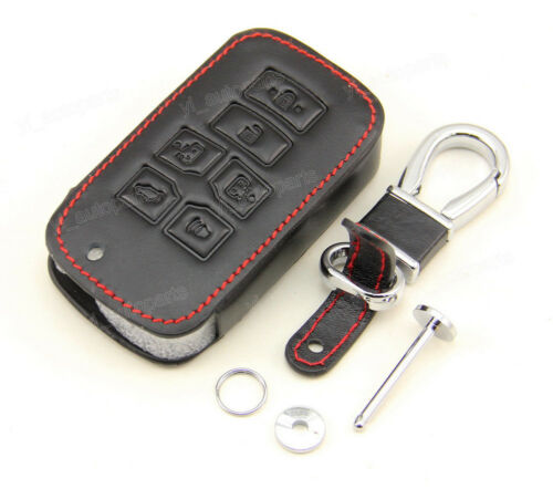 Leather Case Cover Holder For Toyota Sienna Remote Smart Key 6 Buttons HYQ14ADR