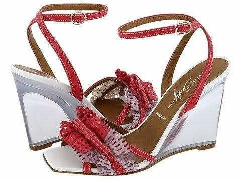 Miss Sixty POLIANA Fuchsia Wedge Woman Schuhes Sz 37 Eu/7