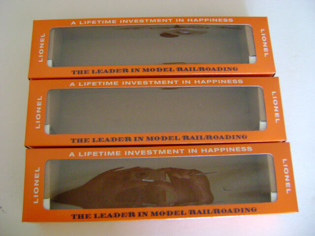 3 Lionel 2408-2409-2410  Licensed Reproduction Boxes