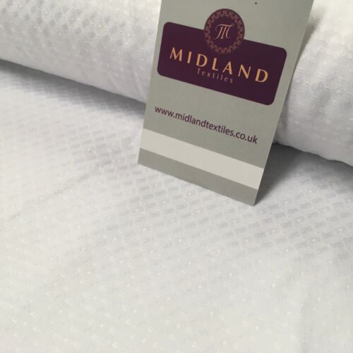 """White Cardinal Self Print Jacquard Fabric ideal for Church Gowns 58/"""" Wide MK989"""