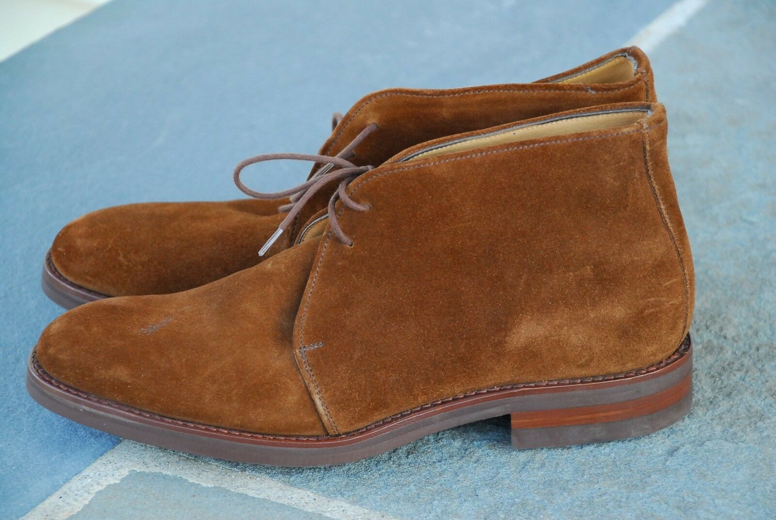 NEW  8D ALFRED Ssilver FOR BROOKS BredHERS PEAL SUEDE CHUKKA BOOTS ALDEN BAGS