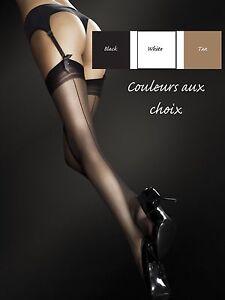 Sheer-Stockings-Woman-Pattern-Seam-Fancy-Fiore-for-Suspender-Belt-20-Den