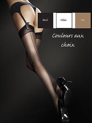 100% Vero Calze Velate Donna Motivo Cucitura Fantasia Fiore Per Giarrettiere 20den Elegante Nello Stile