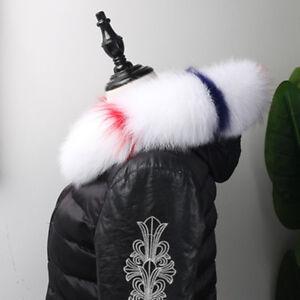 Real-Fox-Fur-Down-Jacket-Fur-Hood-Trimming-Scarf-75-12cm-29-5X4-7-034-White-USstock
