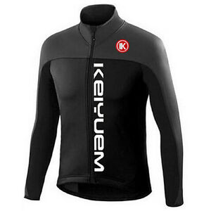 Retro Cycling Long Sleeve Jerseys Men/'s Bike Bicycle Cycle Jersey Shirt Black