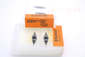 2pcs VCGW 160404 PCD30 carbide inserts for Aluminum Polycrystalline diamond bits