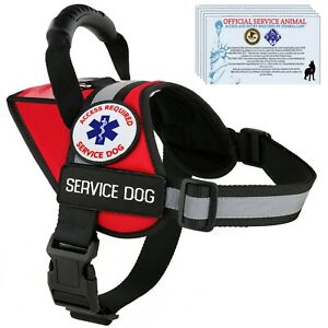 Service-Dog-Harness-Vest-Reflective-Waterproof-K9-Patches-ALL-ACCESS-CANINE