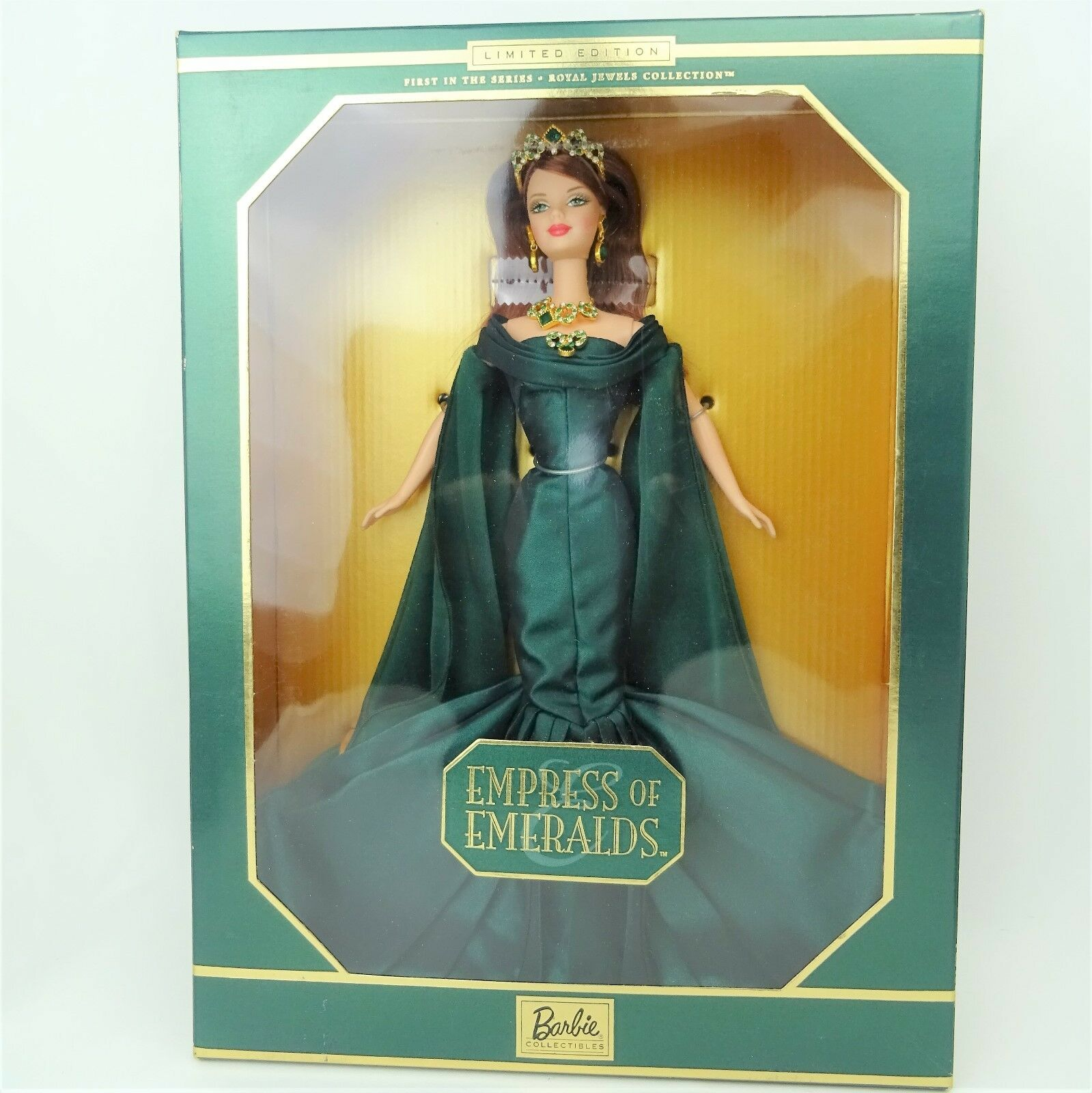 Barbie Emperatriz De Esmeraldas muñeca de edición limitada Nuevo en Caja desgastada