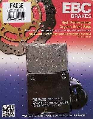 FIT KAWASAKI Z 1300 A1-A5 79/>83 EBC FRONT ORGANIC BRAKE PADS