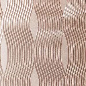 Arthouse-Feuille-Vague-Metallique-Vinyle-Papier-Haute-Qualite-Dore-Rose-294500