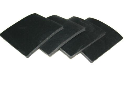 Gummiauflage Gummipad Gummi Gummiplatte Unterlage Auflage 100x100x3mm 4 Stck