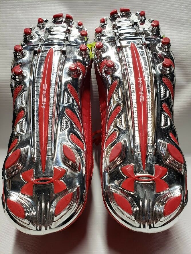 NEW Under Armour Uomo Spine Team Spine Uomo Fierce MC 14 Football Cleats rosso 1270491-601 4705cd