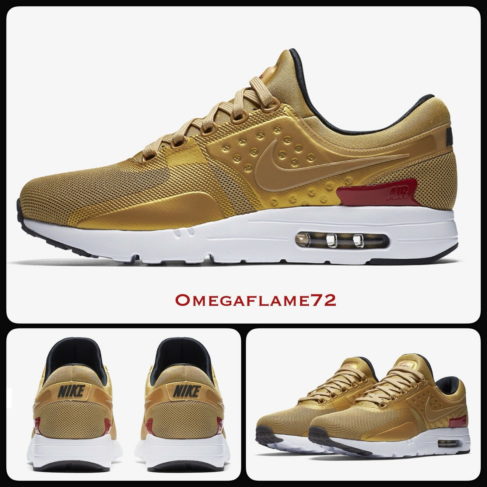 Nike Golden Air Max Zero QS Golden Nike Bullet 97 95 789695-700,11.5 EU 47 US 12.5 6476d0