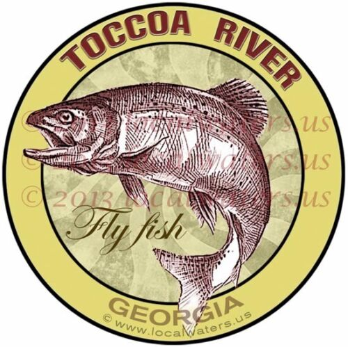 Toccoa River Sticker Fly Fish Georgia Decal GUARANTEE 3 yrs no fade