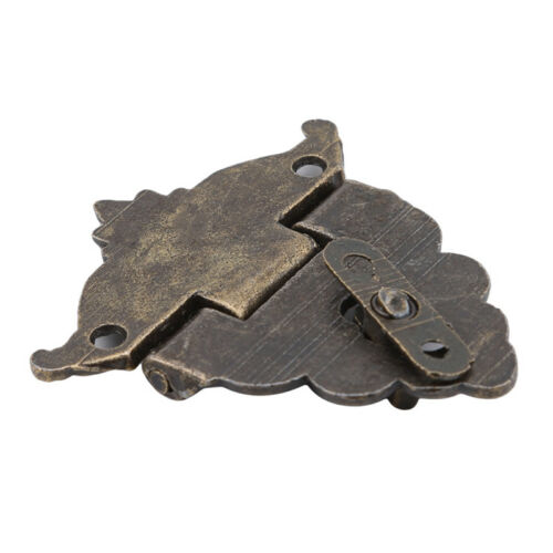 Retro Vintage Decorative Latch Hasp Pad Chest Lock for Wooden Jewelry Box S