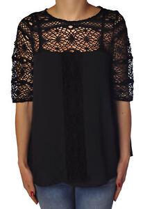 769517c183541 Donna Camicie bluse Soallure Nero vUICq