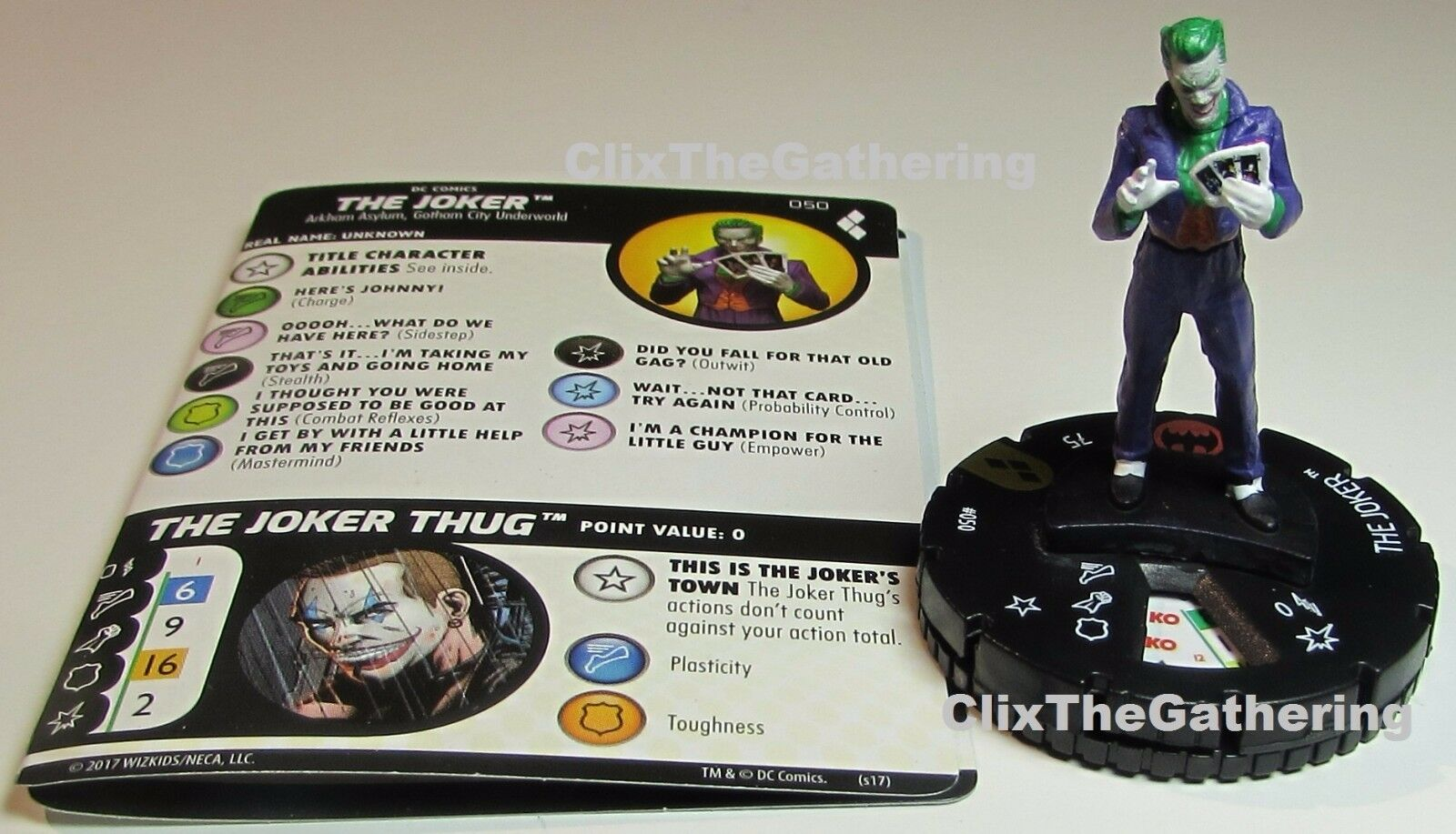 THE JOKER 050 Harley Quinn and the Gotham Girls DC HeroClix Super Rare