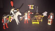Playmobil 3052 3482 Vintage Medieval 5 Knights Horse Cannon 10 Balls Drum Sticks