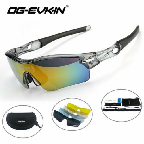 OG-EVKIN Polarized Cycling Sunglasses Goggles Eyewear Sport Glasses 5 Lenses NEW