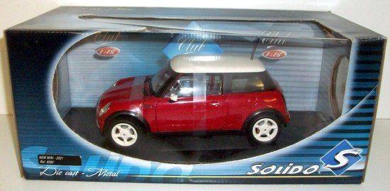 nuevo estilo SOLIDO 1 18 18 18 - 8080 NEW BMW MINI COOPER 2001 - rojo   blanco ROOF  ventas en linea