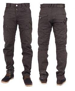ETO-Marque-Createur-Gris-Ardoise-conique-Pantalon-Jeans-Taille-28-42