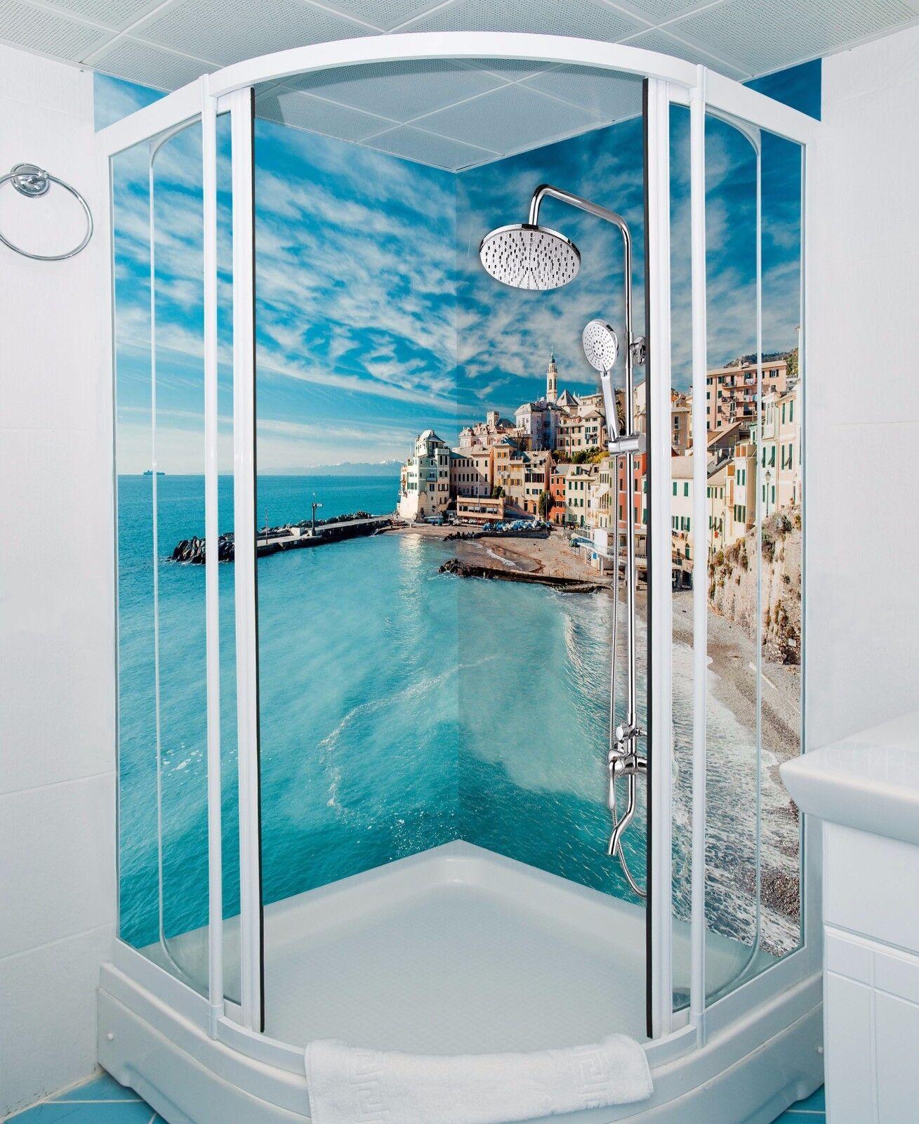 3D Sky sea house 533 WallPaper Bathroom Print Decal Wall Deco AJ WALLPAPER UK