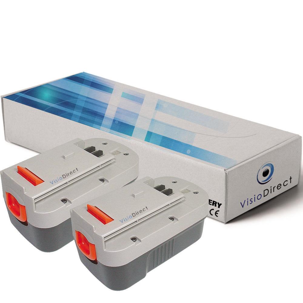 Lot de 2 batteries pour Firestorm FS1800RS 18V 1500mAh  - Sté Française -