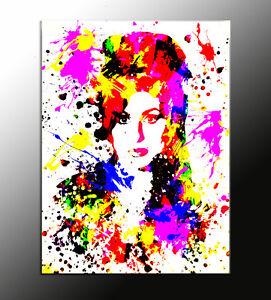 QUADRO-astratto-Amy-Winehouse-action-color-pop-art-gia-con-telaio-prodotto-ita
